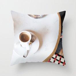 Paris Coffee Throw Pillow