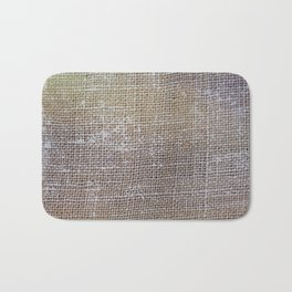 textured jute fabric for background and texture Bath Mat