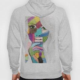 Abstract Art Girl Hoody