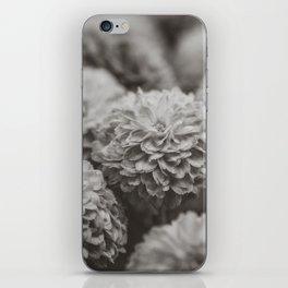Sepia Black and White Botanical -- Chrysanthemums iPhone Skin