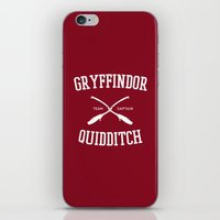 quidditch iPhone & iPod Skins featuring Hogwarts Quidditch Team: Gryffindor by IA Apparel