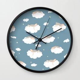 Sleeping sheeps Wall Clock