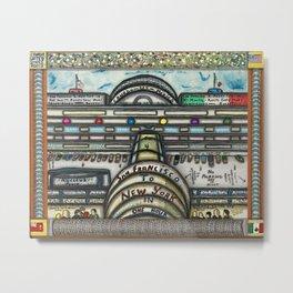 1969 Mexican American Masterpiece 'San Francisco to New York in One Hour' by Alexander A. Maldonado Metal Print