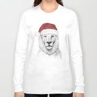 santa Long Sleeve T-shirts featuring Santa lion by Balazs Solti