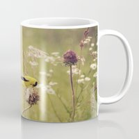 elmo Mugs featuring Life in the Meadow by Kimberley Britt