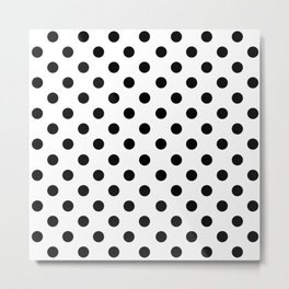 Polka Dots (Black & White Pattern) Metal Print
