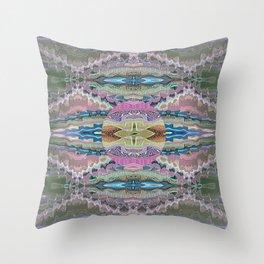 Aztec Tibetan Merge Mandala Throw Pillow