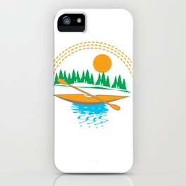 I'd Rather Be Kayaking - Funny Gift Print Design iPhone Case