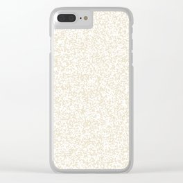 Tiny Spots - White and Pearl Brown Clear iPhone Case