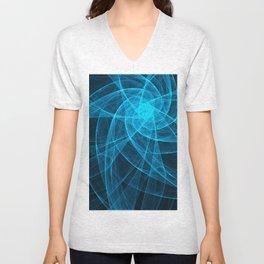 Tulles Star Computer Art in Blue Unisex V-Neck