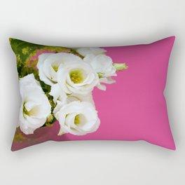 Pretty white gentian flowers Rectangular Pillow