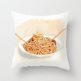 Pasta love Throw Pillow