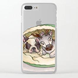 Bubba & Sleeping Reindeer Clear iPhone Case