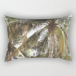 Miami Palm Trees | Landscape Photography | Coastal | Nature | Ocean | Summer | Travel Rectangular Pillow