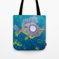 Zombie Fish Tote Bag
