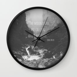 The Misty Mountains Wall Clock