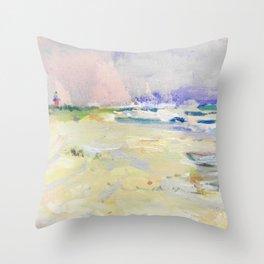 oil sea painting Throw Pillow