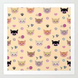 I Sure Do Like Kitties Art Print
