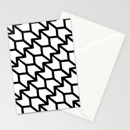 Lotus Flower Pattern White and Black  Stationery Cards