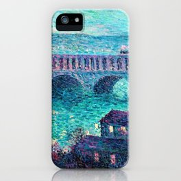 Classical Masterpiece: The Auteuil Viaduct by Maximilian Luce iPhone Case