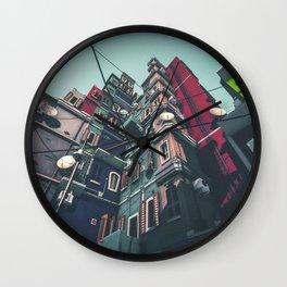 Yard in Inner Town Wall Clock