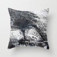 paris map Throw Pillows featuring Paris Map by Nicolas Jolly