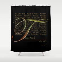 Sign Language for Taurus Shower Curtain