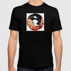 Near The South End of Folsom, San Francisco MEDIUM Black Mens Fitted Tee