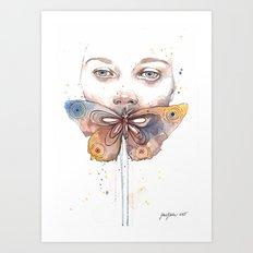 Butterfly, watercolor Art Print