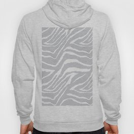 ZEBRA GRAY AND WHITE ANIMAL PRINT Hoody