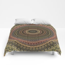 Vintage Bohemian Mandala Textured Design Comforters
