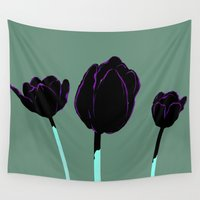 tulips Wall Tapestries featuring Tulips by Ludovic Jacqz