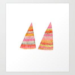 shaggy  triangle Art Print