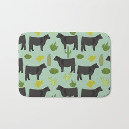 Cattle breed cactus farm gifts homestead art cow illustration Bath Mat