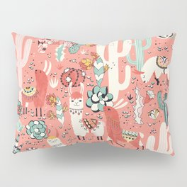 Lama in cactus jungles Pillow Sham