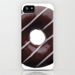 Dark chocolate donut iPhone Case