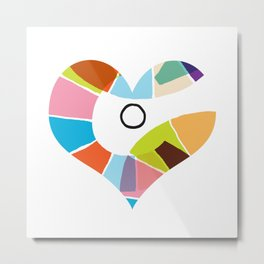 Heart Coloria Too Metal Print