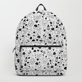 gnomes black and white Backpack