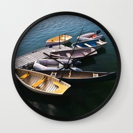 Boats in the Harbor Wall Clock