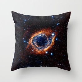 Helix Nebula (Infrared) Throw Pillow