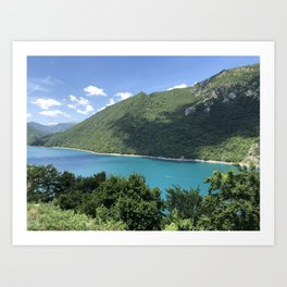 Beautiful Nature With Sea View Art Print