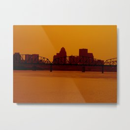 Take a step back.  Metal Print