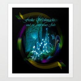Frohe Weihnachten und ein gutes neues jahr Art Print