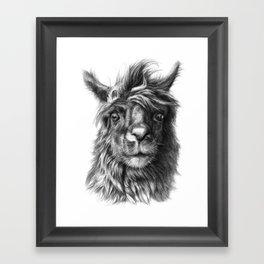 Cute Llama G2013-068 Framed Art Print