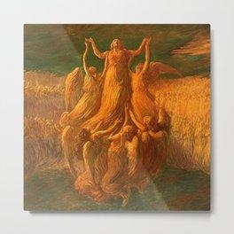 L'Assunzione (Assunta) The Resurrection by Gaetano Previati Metal Print