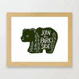 Join the Park Side Bear Framed Art Print