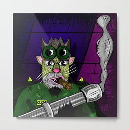 Kitty Commando Metal Print