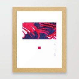 red&blue1 Framed Art Print