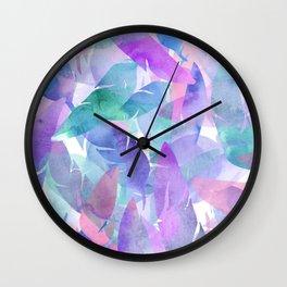 Feather Haze Wall Clock
