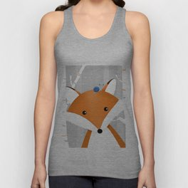 Fox and snail Unisex Tank Top